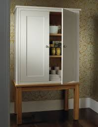 Free Standing Kitchen Storage by Kitchen Unfinished Wooden Free Standing Kitchen Pantry With 2