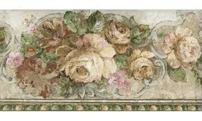 bloomed white roses wallpaper border