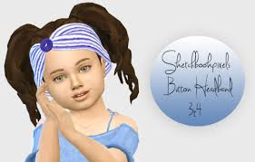 toddler headbands hair accessories sims 4 nexus