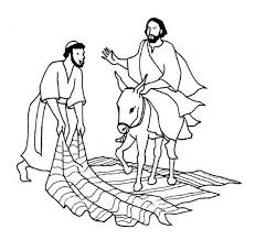 a man laid down his cloak for jesus in palm sunday coloring page