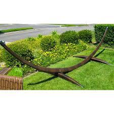 hammock jumbo green and wicker stand brown combo