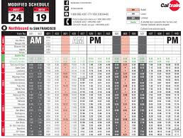 caltrain schedule modified on president s day climate