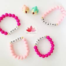 pink beads bracelet images Affirmation bracelet for children and fun adults pink beads jpg