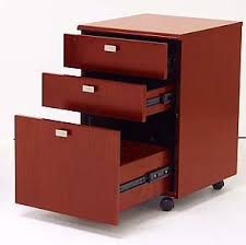 Drawer Pedestal Glass Top Cherry Welcome Desk W Mobile Files