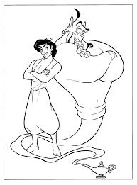 aladdin genie friends coloring aladdin pages