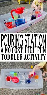 pouring station activity for toddlers activities kid activities pouring station activity for toddlers