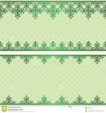 light green vector invitation card with ornament stock vector