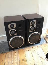 hitachi home theater system retro hitachi hs 430 wooden floor speakers rare in wandsworth