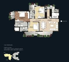 3 Bhk Apartment Floor Plan by Saan Group
