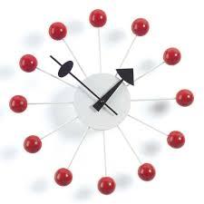 Horloge Cuisine Rouge by Ball Clock Nelson Horloge Murale Vitra Ambientedirect Com