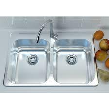 Overmount Kitchen Sinks Cantrio Koncepts Stainless Steel Bowl Overmount Kitchen