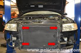 audi a4 b6 radiator replacement 1 8t 2002 2008 pelican parts