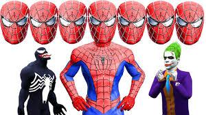 spiderman ten heads frozen elsa venom joker hulk
