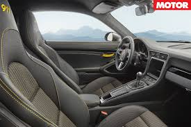 porsche 911 interior 2017 2018 porsche 911 carrera t revealed motor