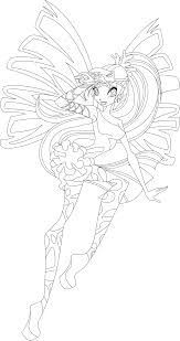 bloom sirenix full coloring page by icantunloveyou on deviantart