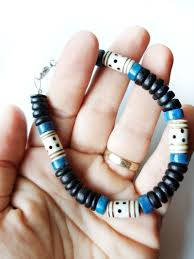 blue bead bracelet images Mens surfer bracelet blue morocco authentic men by jenny hoople jpg