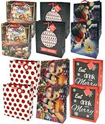 gift bags christmas large assorted christmas gift bags 12 toys