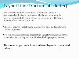 layout of business letter writing business letters power point presentation best solutions of business