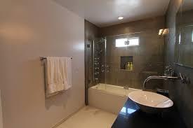 bathtub glass doors frameless guest bathroom u2013 frameless glass doors enclose the shower tub
