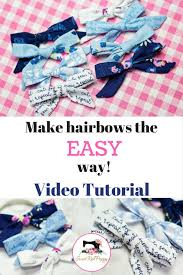 how to make girl bows how to make a simple bow sewing tutorial diy sweet poppy