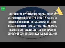 What Is Legally Blind Is Considered Legally Blind Youtube