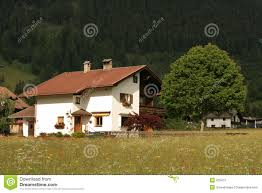 Mountain Chalet Home Plans Austrian Mountain Chalet House Stock Photography Image 235412