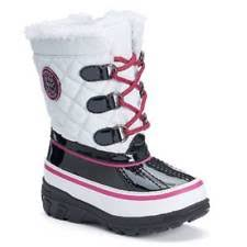s totes boots size 11 size 11 totes white black waterproof warm winter side