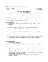 The Best Resume Examples For A Job by Cover Letter Examples Purdue