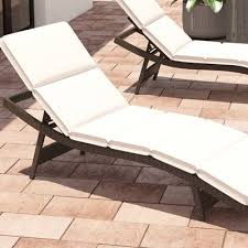 Cushions For Outdoor Chaise Lounges Brayden Studio Fortenberry Outdoor Chaise Lounge Cushion U0026 Reviews