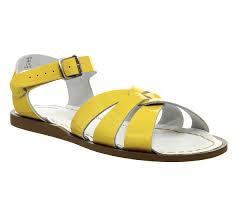 salt water original sandals yellow patent sandals