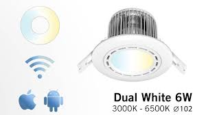 wifi led recessed lights appl led recessed downlight 6 watt dimmable variable color