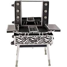 Makeup Artist Station Table Exciting Amazon Com Nyx Makeup Artist Train Case With Lights