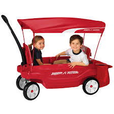 wagon baby radio flyer ultimate comfort canopy wagon walmart