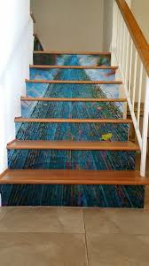 Photo Mural Wallpaper by Custom Photo Stair Murals Get A Creative Display Casart Customer