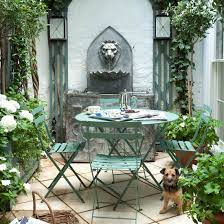 Water Feature Ideas For Small Gardens Patio Small Patio Gardens Apartment Garden With Water Feature