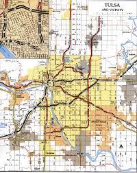 map of tulsa tulsa oklahoma tourist map tulsa ok mappery