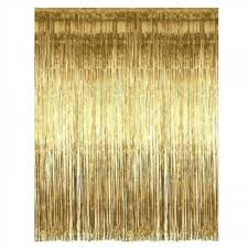 Gold Shimmer Curtains Wide Gold Foil Shimmer Curtain Candle Cake Shop