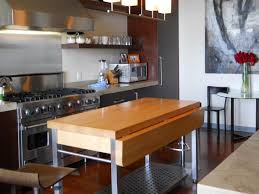 mobile kitchen island with seating portable kitchen islands hgtv intended for movable designs 13