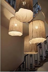diy italian linen pendant lights easy home decor with burlap