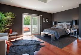 Black Wall Bedroom Interior Design Modern Design Of A Country House With Black Wall Color Interior