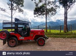 red jeep 2016 salento colombia june 7 a red jeep parked on a rural road
