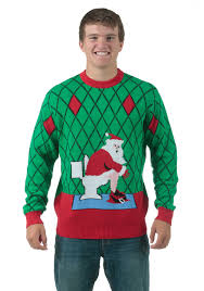 ugliest sweater toilet santa sweater
