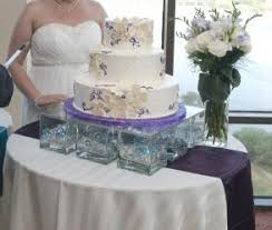 diy wedding cake stand glass block wedding cake stands diy glass cake stand