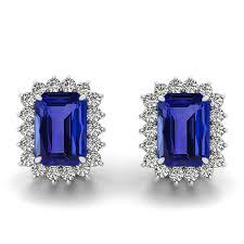tanzanite stud earrings cut tanzanite stud earrings