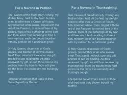sorrowful mysteries of the rosary novena