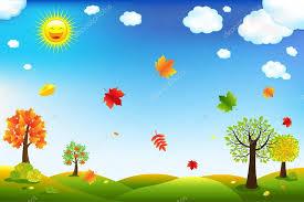 imagenes animadas de otoño otoño paisaje de dibujos animados archivo imágenes vectoriales