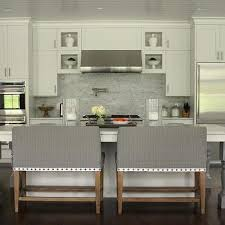 Green Brick Backsplash Tiles Transitional Grey Marble Staggered Kitchen Backsplash Design Ideas