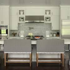 kitchens with backsplash grey marble staggered kitchen backsplash design ideas
