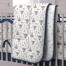 Denim Crib Bedding Blue Denim Boho Crib Bedding Denim Crib Skirt 2 Defilenidees