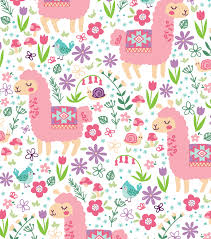 llama wrapping paper snuggle flannel fabric 42 pastel patterned llama joann